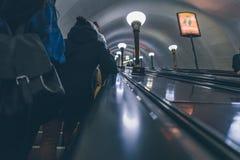 Gente en un subterráneo en Rusia Foto de archivo libre de regalías