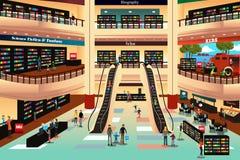 Gente en una librería libre illustration