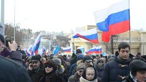 Gente en una marcha en Rusia, Moscú, 2016