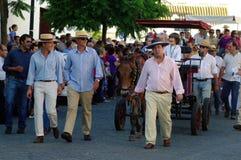 Gente en una procesión 1 imagen de archivo libre de regalías