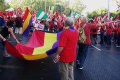 Gente en una protesta el 16 de marzo Imagen de archivo