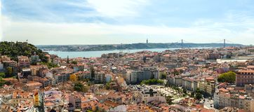 Gente en viaje en Lisboa Foto de archivo libre de regalías