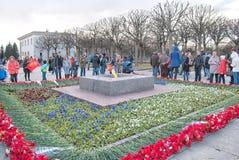Gente en Victory Day St Petersburg Rusia Imagen de archivo