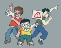 Gente enojada ilustración del vector