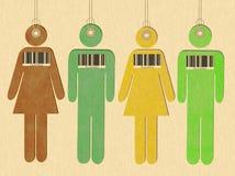 Gente etichettata degli esseri umani Immagine Stock Libera da Diritti