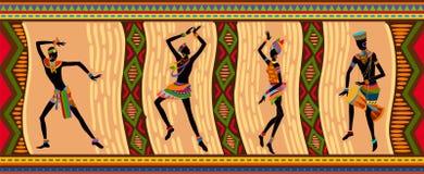 Gente etnica dell'Africano di ballo Fotografia Stock