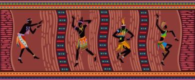 Gente etnica dell'Africano di ballo Immagine Stock Libera da Diritti