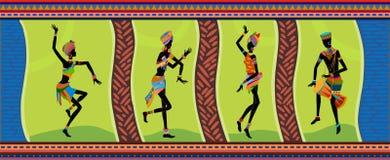 Gente etnica dell'Africano di ballo Immagini Stock