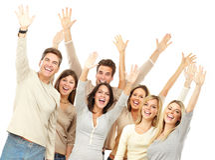 Gente felice Fotografia Stock Libera da Diritti
