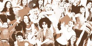 Gente felice illustrazione di stock