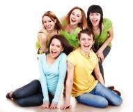 Gente felice del gruppo nel verde. Fotografie Stock Libere da Diritti