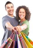 Gente felice di acquisto Immagini Stock Libere da Diritti
