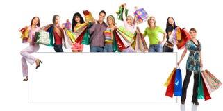 Gente felice di acquisto Fotografie Stock Libere da Diritti