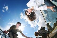 Gente feliz del verano Imágenes de archivo libres de regalías