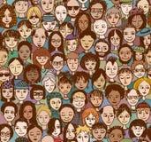 Gente feliz - en color stock de ilustración