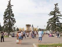 Gente feliz en el ENEA del parque Fotografía de archivo