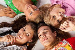 Gente feliz joven Imagen de archivo libre de regalías