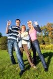 Gente feliz joven imagen de archivo
