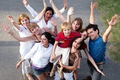 Gente feliz que sonríe al aire libre Fotos de archivo libres de regalías
