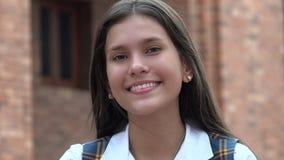 Gente feliz sonriente de la muchacha adolescente Foto de archivo