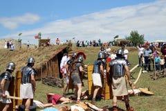 Gente habitada de Romans Scene fotos de archivo