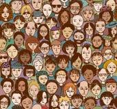 Gente infelice - a colori Immagini Stock