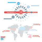 Gente Infographic Fotos de archivo libres de regalías