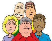 Gente irritable Fotografía de archivo libre de regalías