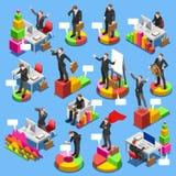 Gente isométrica del negocio de Set 3D del hombre de negocios Fotos de archivo libres de regalías