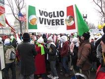 Gente italiana contro aborto Immagine Stock