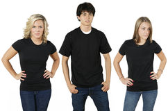 Gente joven con las camisas en blanco Imagen de archivo libre de regalías