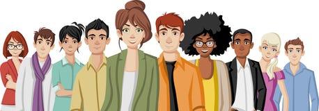 Gente joven de la historieta ilustración del vector
