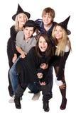 Gente joven del grupo en partido. Foto de archivo libre de regalías