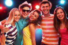 Gente joven en el partido Imagenes de archivo