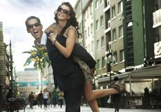 Gente joven feliz Imagen de archivo