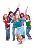 Gente joven feliz y acertada Foto de archivo libre de regalías