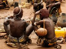 Gente locale dalla valle di Omo, Etiopia Fotografie Stock Libere da Diritti