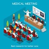 Gente médica de la reunión isométrica Foto de archivo libre de regalías