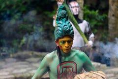 Gente maya nel Messico Fotografie Stock Libere da Diritti
