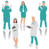 Gente medica illustrazione di stock
