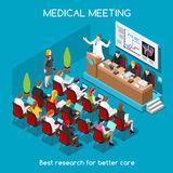 Gente medica di riunione isometrica Fotografia Stock Libera da Diritti