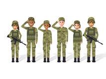 Gente militare Fotografie Stock Libere da Diritti