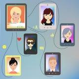 gente moderna en red social Foto de archivo
