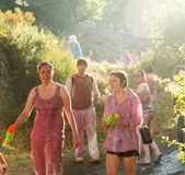 Gente mojada en Haro Wine Festival Imagen de archivo libre de regalías