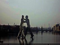 Gente molecular en Berlín Imagen de archivo libre de regalías