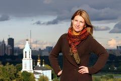 Gente: Mujer rusa en Moscú Fotografía de archivo