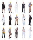 Gente multiétnica con diversos empleos foto de archivo libre de regalías