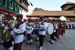 Gente nepalese che celebra il festival di Dashain Fotografia Stock