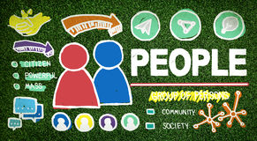 Gente Person Group Citizen Community Concept Fotografía de archivo