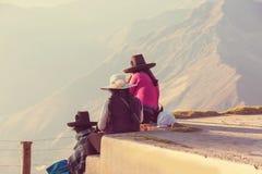 Gente peruviana immagine stock